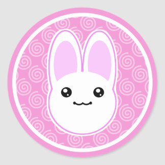 Pegatinas de Usagi Kawaii del conejo de conejito Pegatina Redonda