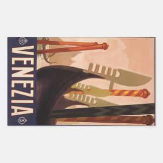 Pegatinas de Venezia Venecia Italia del vintage Pegatina Rectangular