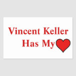 Pegatinas de Vincent Keller Rectangular Altavoz