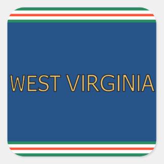 Pegatinas de Virginia Occidental Pegatina Cuadrada