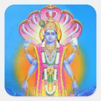 Pegatinas de Vishnu Calcomania Cuadradas Personalizada