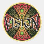 Pegatinas de Vision Pegatinas Redondas