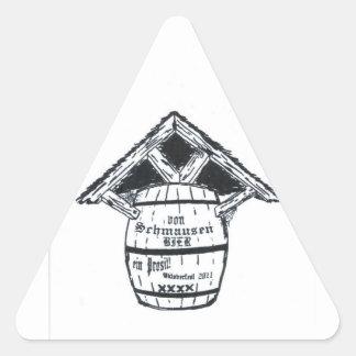 "PEGATINAS de ""von SCHMAUSEN BIER"" Pegatina Triangular"