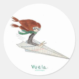 Pegatinas de Vuela Classic Round Sticker