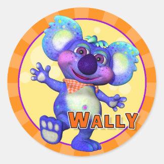 Pegatinas de Wally de la diversión Pegatina Redonda