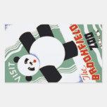 Pegatinas de WPA de la panda del parque zoológico Pegatina Rectangular