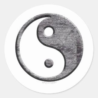 Pegatinas de Yin Yang Pegatina Redonda