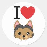 Pegatinas de Yorkshire Terrier Etiquetas Redondas