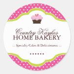 Pegatinas decorativos de la panadería etiquetas redondas