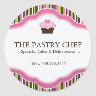 Pegatinas decorativos de la panadería pegatina redonda