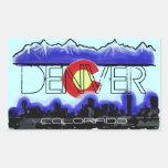 Pegatinas decorativos del horizonte de Denver Rectangular Altavoces