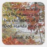 Pegatinas del 40:8 de Isaías Pegatinas Cuadradas Personalizadas