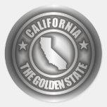 """Pegatinas del acero de California"" Pegatinas Redondas"