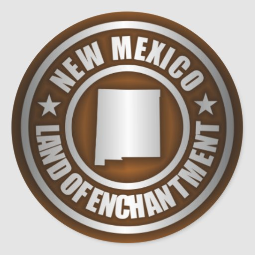 Pegatinas del acero de New México (b) Pegatina Redonda