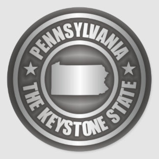 Pegatinas del acero de Pennsylvania Pegatina Redonda