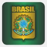 """""""Pegatinas del acero del Brasil"""" Colcomanias Cuadradases"""