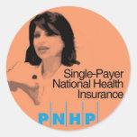 Pegatinas del activista de PNHP Etiquetas Redondas