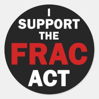 Pegatinas del acto de FRAC (negro) Etiqueta Redonda