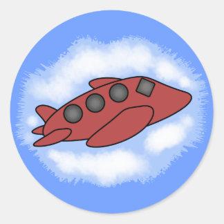 Pegatinas del aeroplano pegatina redonda