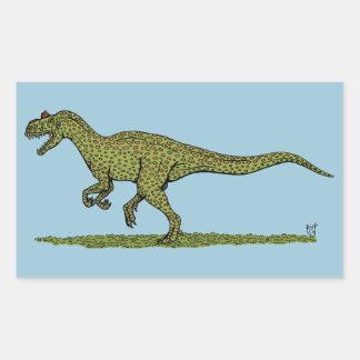 Pegatinas del Allosaurus Pegatina Rectangular