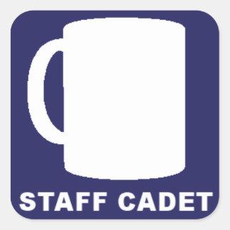 Pegatinas del amo de la cantina del cadete del pegatina cuadrada