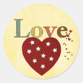 pegatinas del amor pegatina redonda