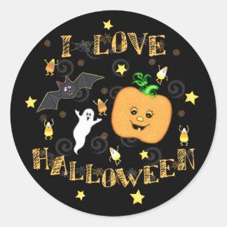 Pegatinas del amor de Halloween
