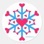 Pegatinas del amor de la nieve pegatinas redondas