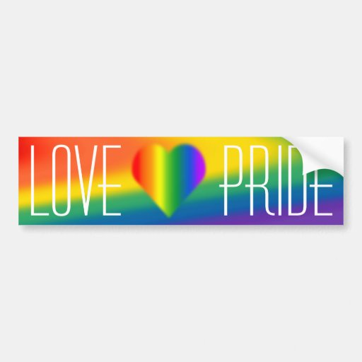 Pegatinas del amor del arco iris de la pegatina pa etiqueta de parachoque