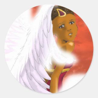 Pegatinas del ángel pegatina redonda