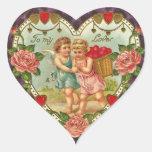 Pegatinas del ángel de la tarjeta del día de San Calcomanías Corazones Personalizadas