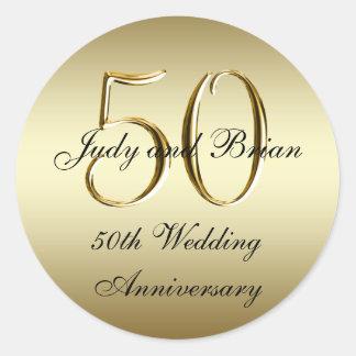 Pegatinas del aniversario de boda del negro del or