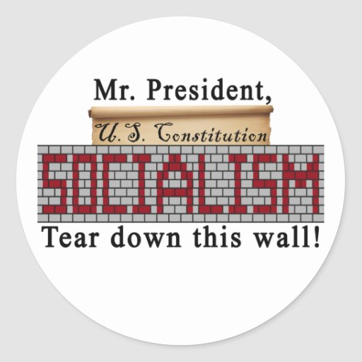 Pegatinas del Anti-Socialismo Pegatinas Redondas