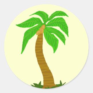 Pegatinas del árbol de coco