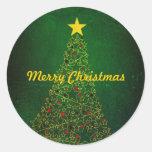 Pegatinas del árbol de navidad de la estrella