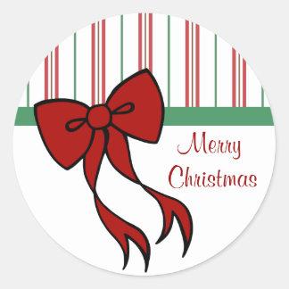Pegatinas del arco de las Felices Navidad Pegatina Redonda