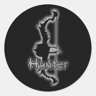 pegatinas del arco del cazador pegatina redonda