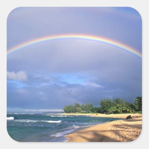 pegatinas del arco iris calcomanía cuadradas personalizadas