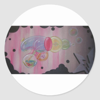 pegatinas del arma de la burbuja pegatina redonda