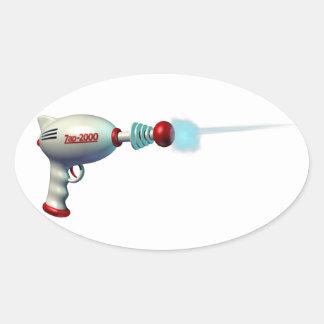 Pegatinas del arma del laser del espacio pegatinas óval personalizadas