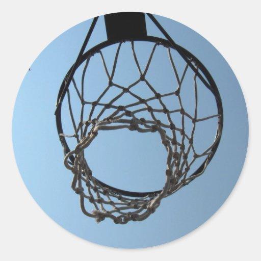 Pegatinas del aro de baloncesto pegatina redonda
