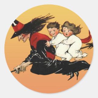 Pegatinas del arte de Halloween del vintage Paseo