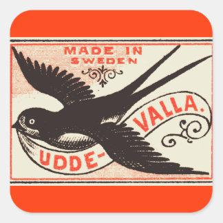 Pegatinas del arte de la etiqueta del pájaro del