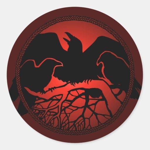 Pegatinas del arte del cuervo del cuervo de los re