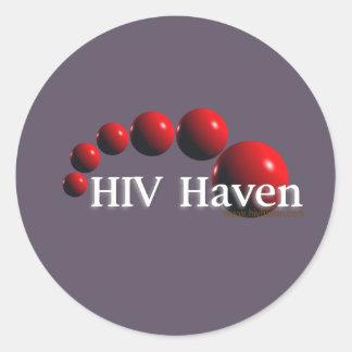 Pegatinas del asilo del VIH Pegatina Redonda