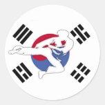 Pegatinas del aviador del Taekwondo Pegatina Redonda