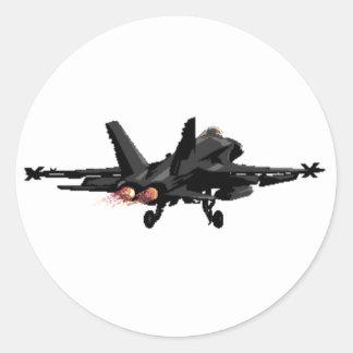 Pegatinas del avión de combate del avispón F/A-18 Pegatina Redonda