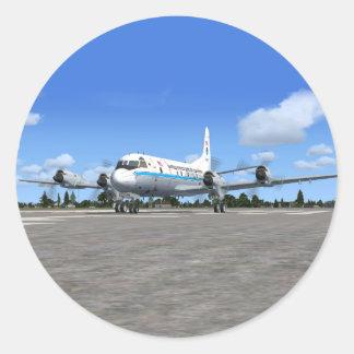 Pegatinas del avión del tiempo de P3 Orión NOAA Pegatina Redonda