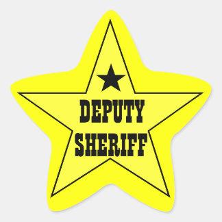 Pegatinas del ayudante del sheriff pegatina en forma de estrella