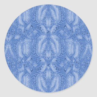 Pegatinas del azul de Bebopo Pegatina Redonda